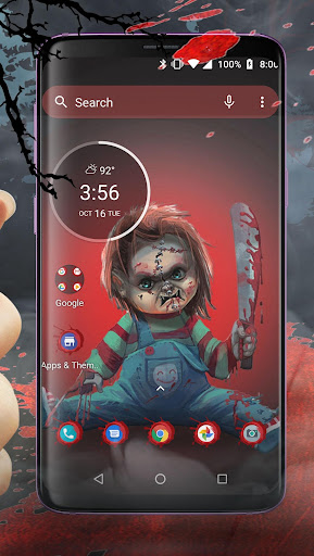 Scary Doll Halloween Theme - Wallpapers and Icons 1.0.3 screenshots 2