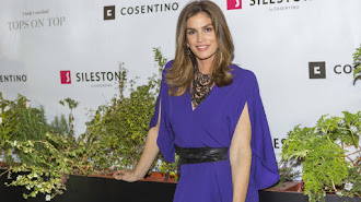 La supermodelo y empresaria Cindy Crawford en el acto de Houston.