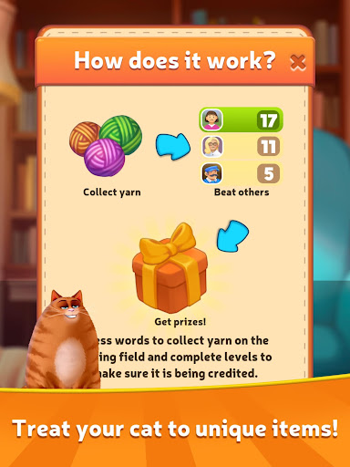 Kitty Scramble: Word Stacks screenshots 12