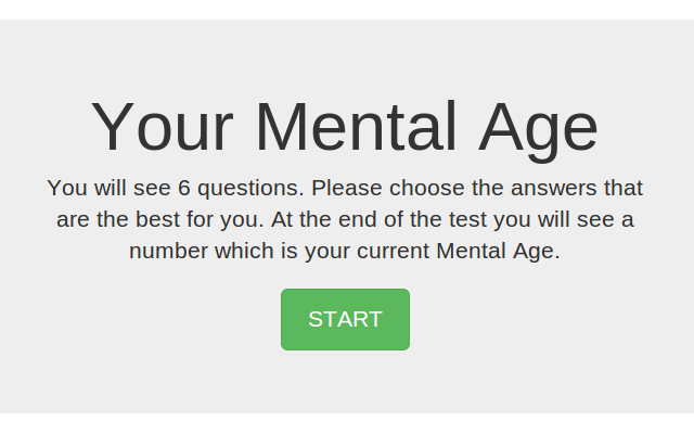 your mental age test chrome web store