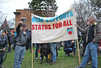 Photo: The Ontario Coalition Against Poverty (OCAP) brings a contingent to the May Day march and rally.