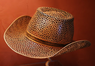 Photo: A turned and pierced hat by Richard Morris.