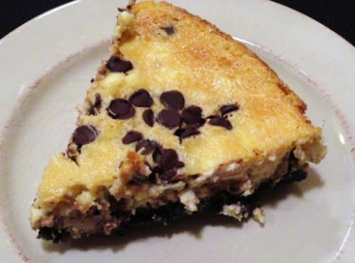 """Chocolate Chip Cheesecake with Oreo Crust """"I made this a few days..."""