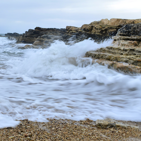 Wave is coming by Anastasis Agathokleous - Landscapes Waterscapes ( seascape, rocks, wave, sea, landscape )