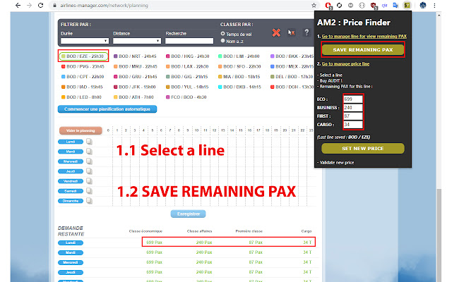 Airline Manager 2 : Price Finder Extension