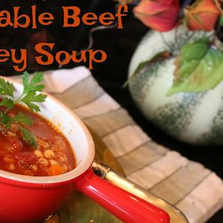 Instant Pot Vegetable Beef Barley Soup.