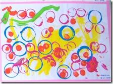 Pintura com Copos e Rolhas