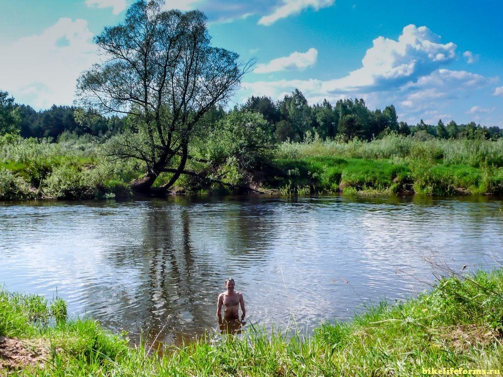 купание в реке Тьма