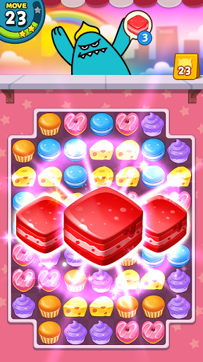 Candy Match 3 Puzzle: Sweet Monster screenshots 1