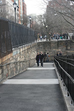 Photo: The walkway down to Squibb Park from the Fruit Street Sitting Area.