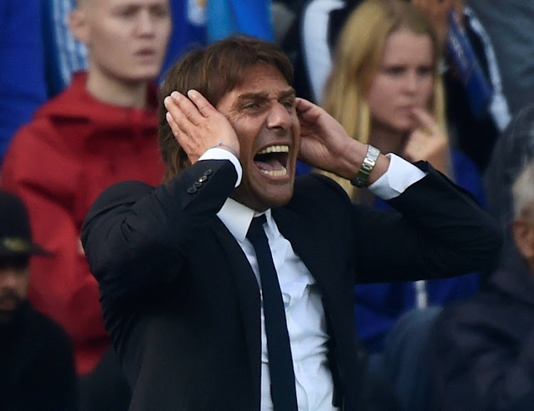 Chelsea manager Antonio Conte reacts.