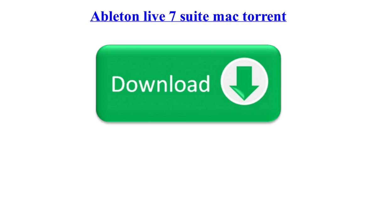 torrent ableton live 7