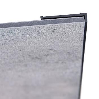 DecoDesign - Zubehör Profil - Endprofil, flächenbündig - Schwarz (68), Länge 2550 mm