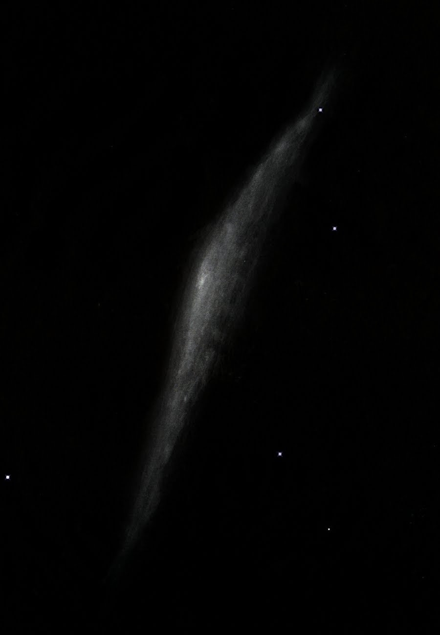 Photo: NGC 3079 à 430X dans le T1m de Stellarzac le 5 mars 2014.