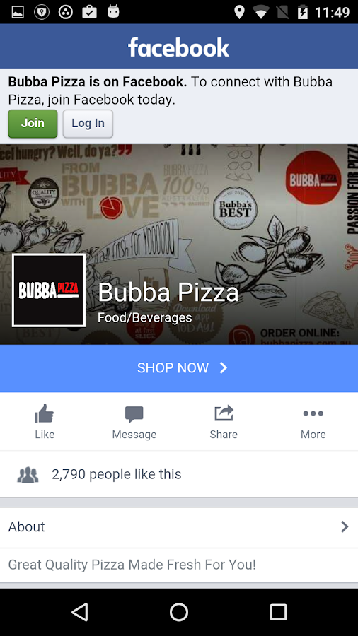 Bubba Pizza Ordering App- screenshot