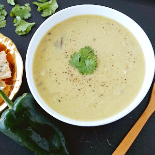 Roasted Cream of Poblano Soup