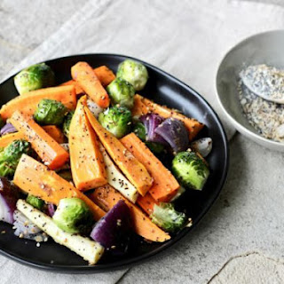 Everything Seasoning with Roasted Vegetables.