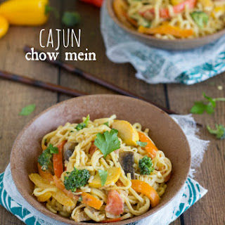 {Vegetarian} Cajun Chow Mein