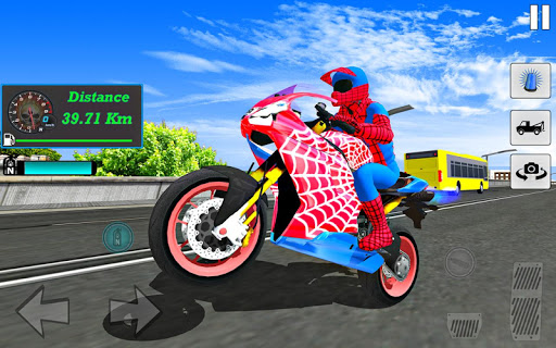 Bike Super Hero Stunt Driver Racing 1.0 screenshots 3