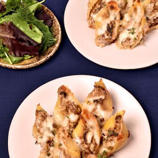 Three Mushroom Three Cheese Stuffed Shells.
