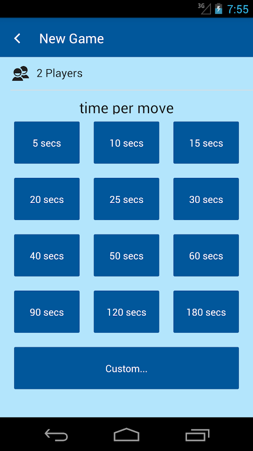 Mattle Board Game Clock- screenshot