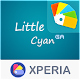 Download LITTLE™ XPERIA Theme | A CYAN  1.0.1