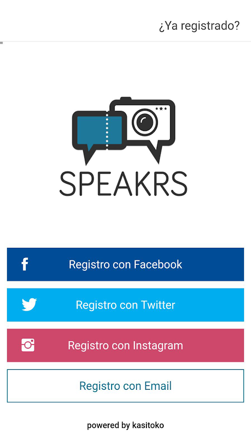 Speakrs app- screenshot