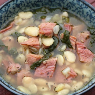 Easy Crock Pot White Bean and Ham Soup.
