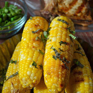 Basil Butter Roasted Corn on the Cob