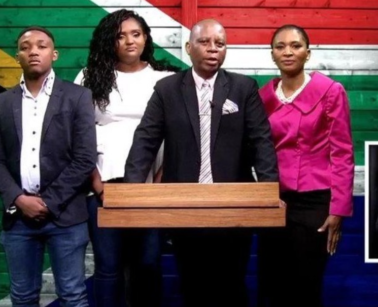 From left to right: Rhulani, Khensani, Herman and Connie Mashaba.