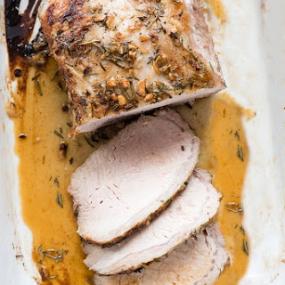 Boneless Pork Loin Roast with Garlic and Herbs Recipe