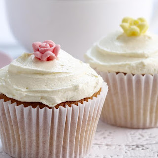 Vanilla Cupcakes with Buttercream Frosting.
