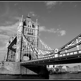 towerbridge by Veronika Gallova - City,  Street & Park  Vistas ( london, towerbridge, london ladmarks,  )