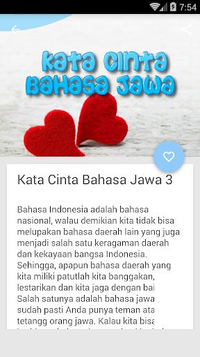 2020 Kata Kata Cinta Bahasa Jawa Android App Download Latest