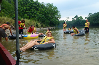 Photo: The group sets off tubing, minus us
