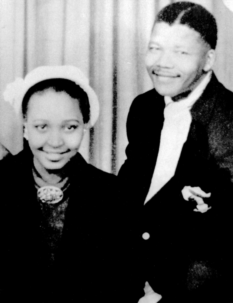 Born in Bizana in the Eastern Cape in 1936' she moved to Johannesburg to study social work after matriculating. She met lawyer and anti-apartheid activist Nelson Mandela (pictured) in 1957 and they were married a year later.