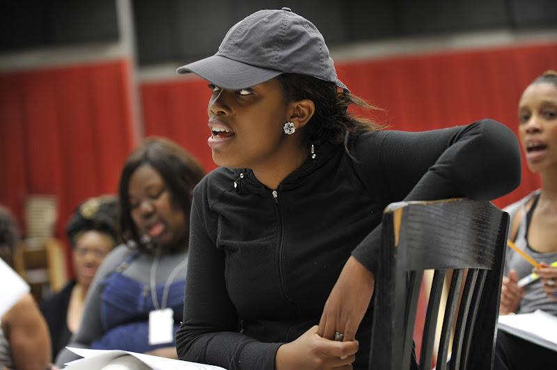 Photo: Marketta P. Wilder (Yolanda) rehearses Regina Taylor's 10th anniversary production of Crowns at Goodman Theatre (June 30 – August 5)