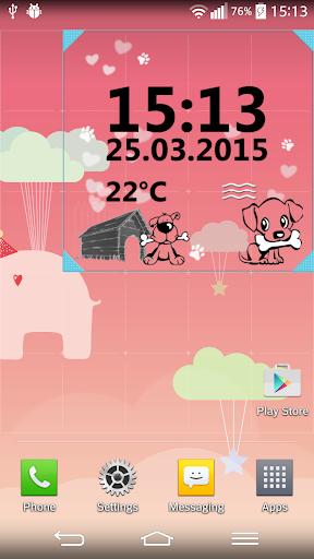 Puppy Digital Weather Clock