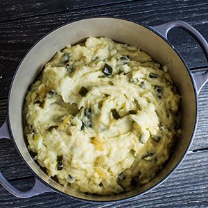 jalapeno and caramelized onion mashed potatoes