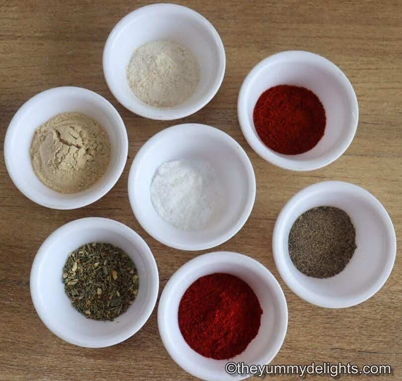 image of ingredients for cajun seasoning