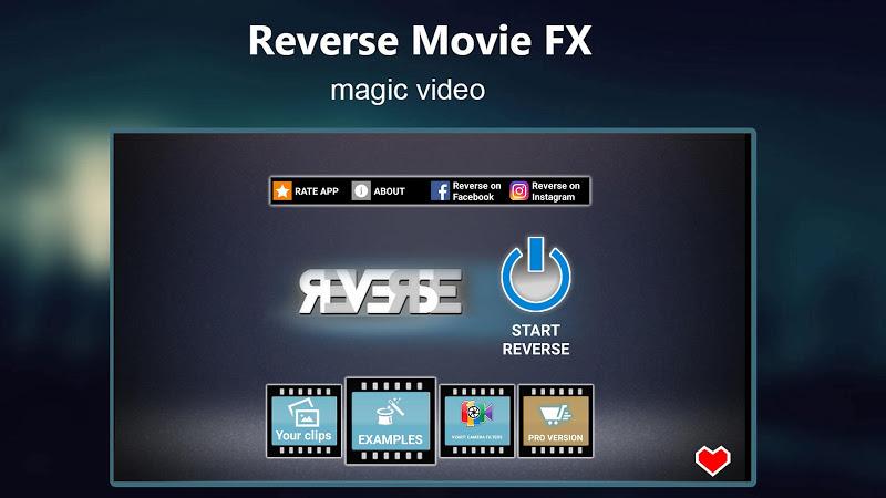 Reverse Movie FX - magic video Screenshot 4