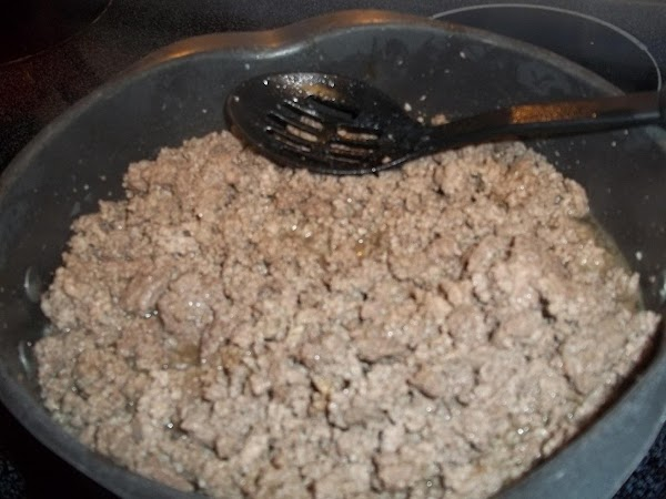 Brown meat on medium heat in a skillet until cooked. Salt and pepper to...