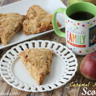 Caramel Apple Pie Scones