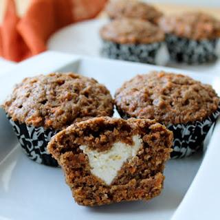 Cream Cheese Stuffed Carrot Cake Muffins.