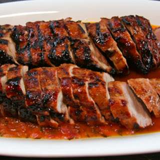 Guava-glazed Grilled Pork Tenderloin with Habañero Orange Mojo