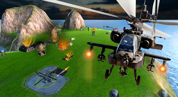 Heavy Gunship Helicopter War🚁- screenshot thumbnail