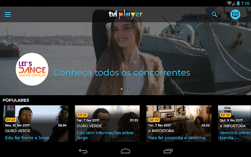 TVI Player– miniatura da captura de ecrã