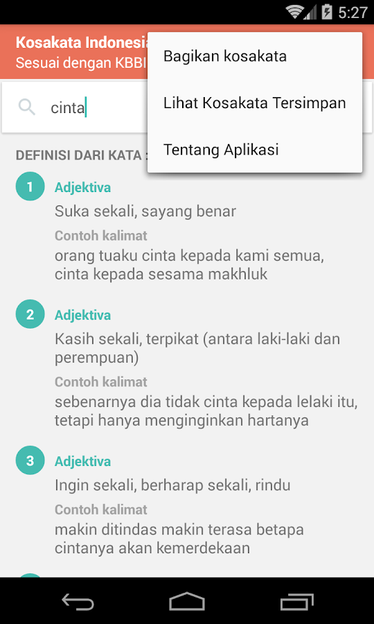 Kamus Daring Bahasa Indonesia- screenshot