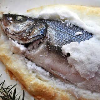 Salt Crusted Branzino.