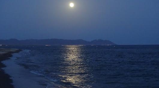 Así brilló la espectacular luna llena sobre Cabo de Gata